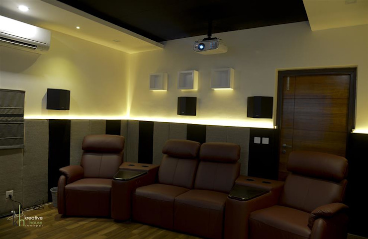 Home Theater Eclectic style media room by KREATIVE HOUSE Eclectic Plywood