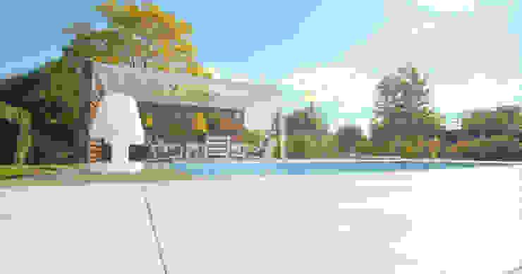 Poolhouse Moderne tuinen van Buro van Rooijen Modern