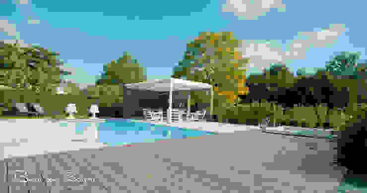 IPE-hout Moderne tuinen van Buro van Rooijen Modern