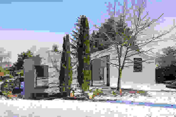 Ansicht Gartenseite Moderne Häuser von ZHAC / Zweering Helmus Architektur+Consulting Modern