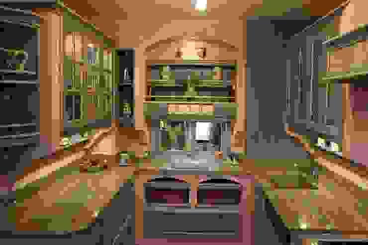Eiche Küche Modell Nizza Blau weiss Villa Medici - Landhauskuechen aus Aschheim Landhaus Küchen Massivholz Blau