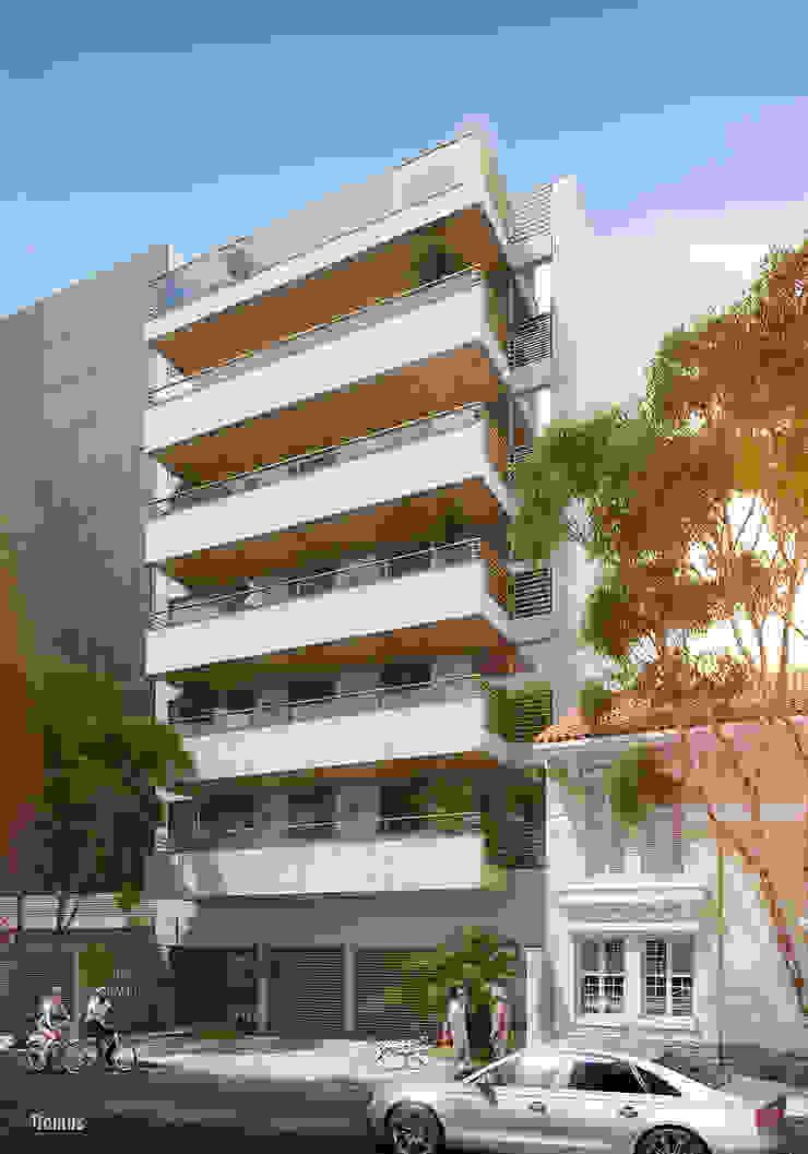 EDIFÍCIO CARAVELLE | Fachada Casas modernas por Tato Bittencourt Arquitetos Associados Moderno