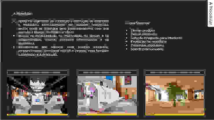 Corian na Moodular Centros Comerciais modernos por MOODULAR Moderno
