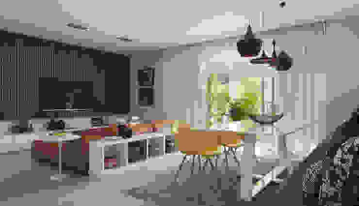 EDIFÍCIO CARAVELLE | Sala Salas de jantar modernas por Tato Bittencourt Arquitetos Associados Moderno