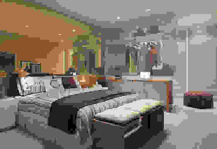 EDIFÍCIO CARAVELLE | Suíte Quartos modernos por Tato Bittencourt Arquitetos Associados Moderno