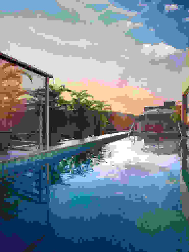 EDIFÍCIO CARAVELLE | Piscina Piscinas modernas por Tato Bittencourt Arquitetos Associados Moderno