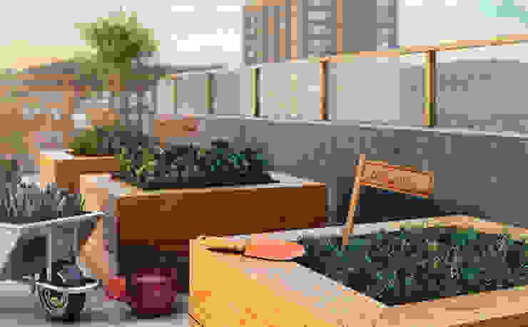 EDIFÍCIO CARAVELLE | Horta Jardins modernos por Tato Bittencourt Arquitetos Associados Moderno