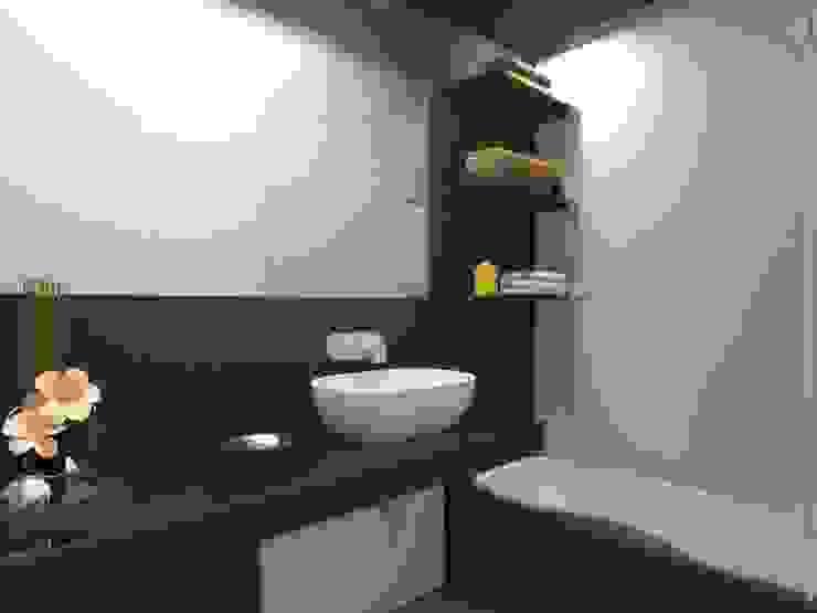 Remodelação de Apartamento em Almada Casas de banho modernas por Projectos Arquitectura & 3D Moderno