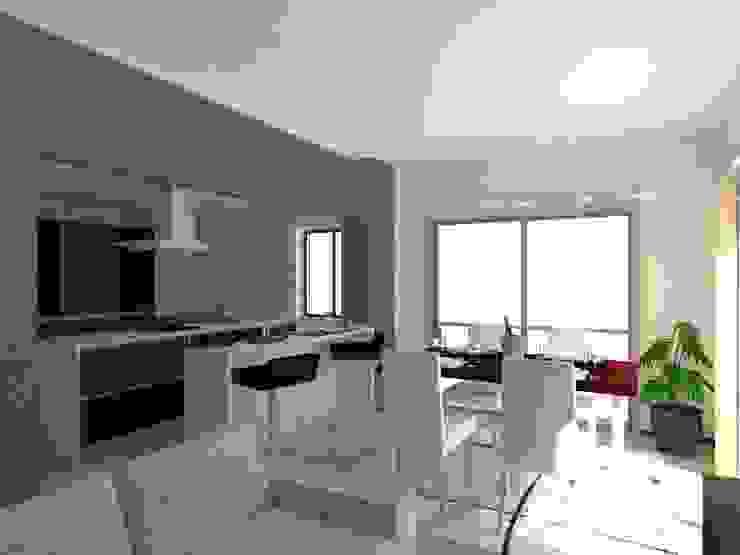 Edifício de Habitação em Carcavelos Salas de estar modernas por Projectos Arquitectura & 3D Moderno
