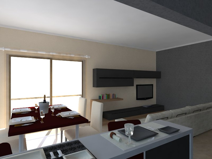 Edifício de Habitação em Carcavelos Escritórios modernos por Projectos Arquitectura & 3D Moderno