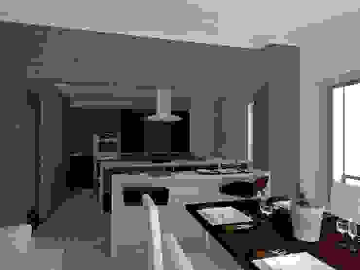 Edifício de Habitação em Carcavelos Salas de jantar modernas por Projectos Arquitectura & 3D Moderno