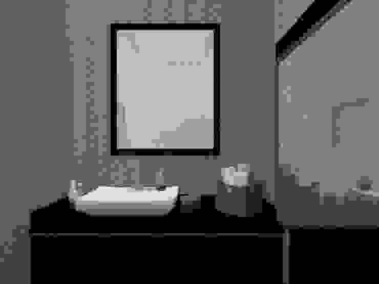 Edifício de Habitação em Carcavelos Casas de banho modernas por Projectos Arquitectura & 3D Moderno