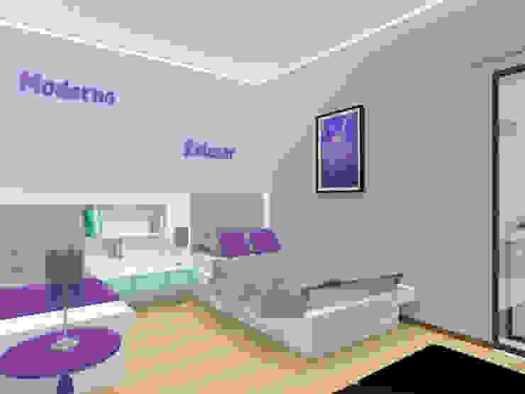 Edifício de Habitação em Carcavelos Quartos modernos por Projectos Arquitectura & 3D Moderno