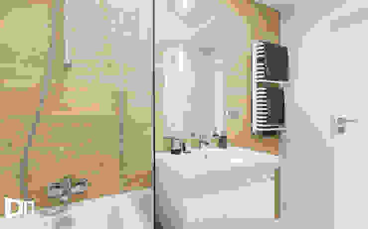 Realizacja projektu wnętrza mieszkania w Krakowie Nowoczesna łazienka od TIKA DESIGN Nowoczesny