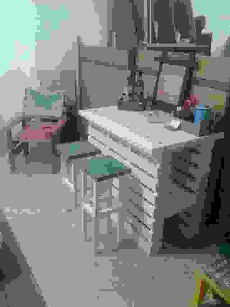 Ilha de cozinha com 2 bancos por Paulo Broughton Rústico Madeira Acabamento em madeira