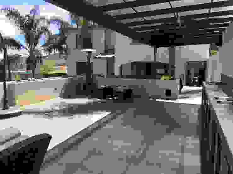 Modern balcony, veranda & terrace by Arki3d Modern