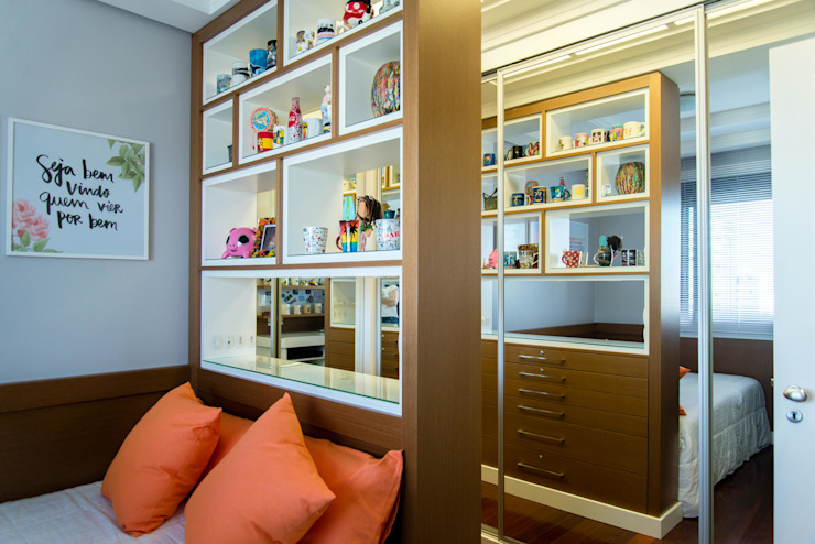 Dormitório Home Office por AIRE Arquitetura Interiores e Retail Eclético MDF