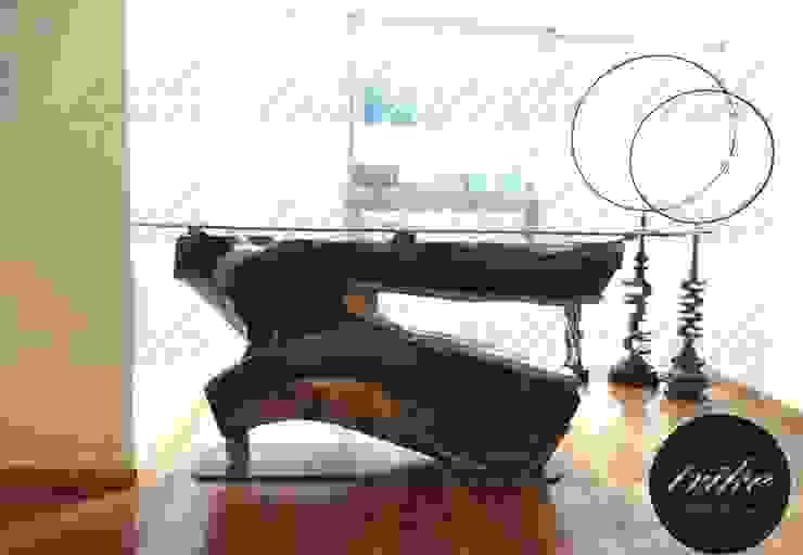 Barra tronco de Madera Cocinas coloniales de Trike Interiorismo Colonial Madera Acabado en madera