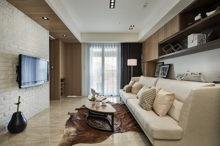 [HOME] Yunshi Interior Design 모던스타일 거실 by KD Panels 모던 우드 우드 그레인
