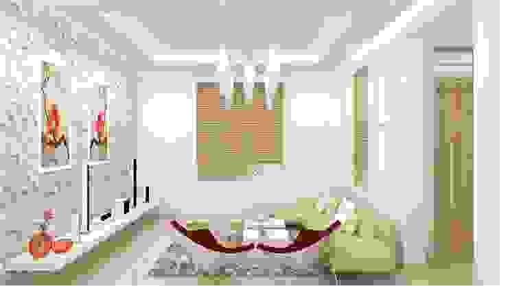 现代客厅設計點子、靈感 & 圖片 根據 homify 現代風 合板