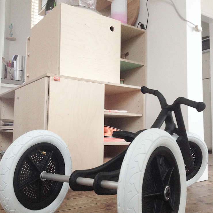 boekenkast in Groningen van Studio Martijn Westphal Minimalistisch Hout Hout