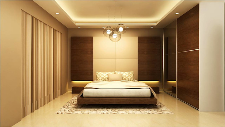 MANTRI ESPANA, BANGALORE. (www.depanache.in):  Bedroom by De Panache  - Interior Architects