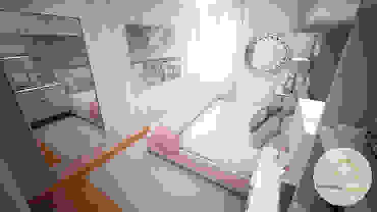 Projecto de Decoração - Quarto Pequeno Quartos modernos por Andreia Louraço - Designer de Interiores (Contacto: atelier.andreialouraco@gmail.com) Moderno