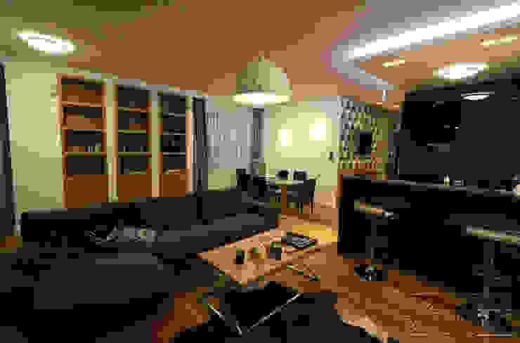 Komfortowe studio: styl , w kategorii Salon zaprojektowany przez Koncepcja Wnętrz ,Nowoczesny