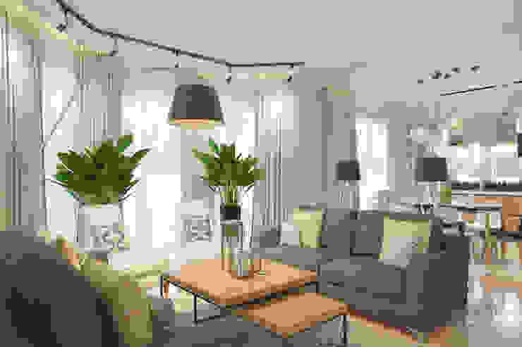 Living room by Студия авторского дизайна ASHE Home,