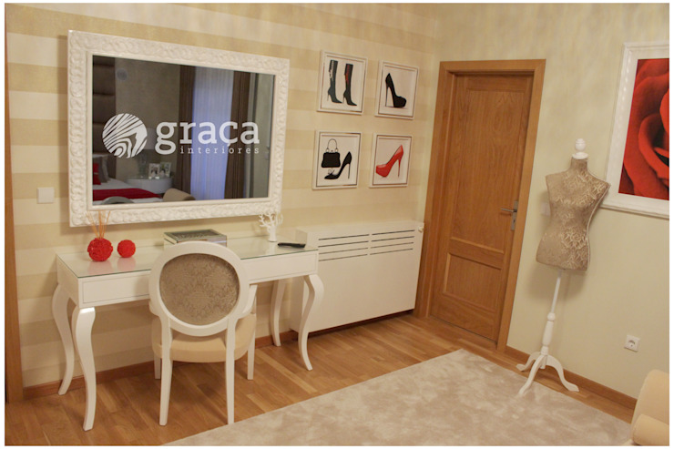 모던스타일 침실 by Andreia Louraço - Designer de Interiores (Contacto: atelier.andreialouraco@gmail.com) 모던 MDF