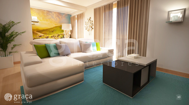 Salon moderne par Andreia Louraço - Designer de Interiores (Contacto: atelier.andreialouraco@gmail.com) Moderne