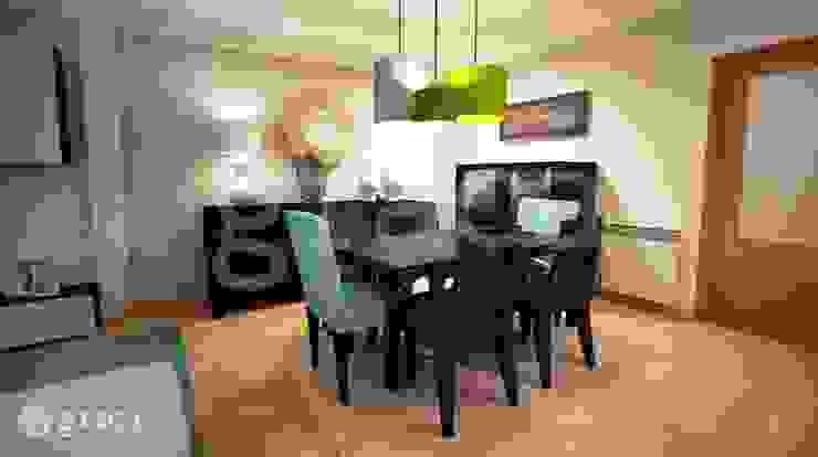 Modern dining room by Andreia Louraço - Designer de Interiores (Contacto: atelier.andreialouraco@gmail.com) Modern