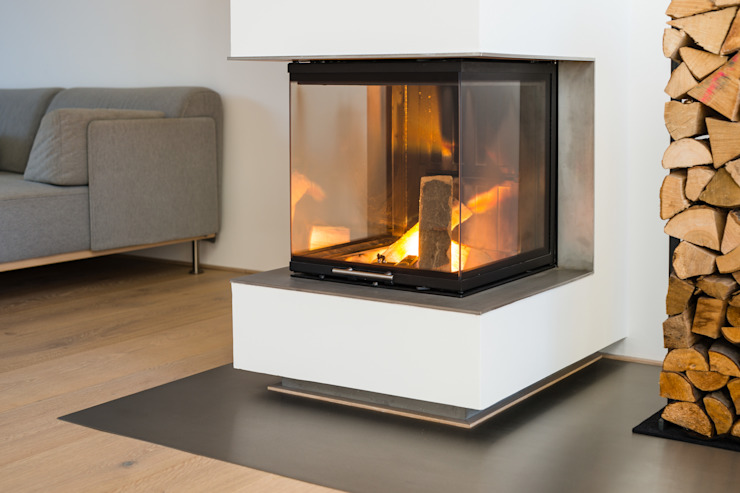 Helwig Haus und Raum Planungs GmbH Living roomFireplaces & accessories