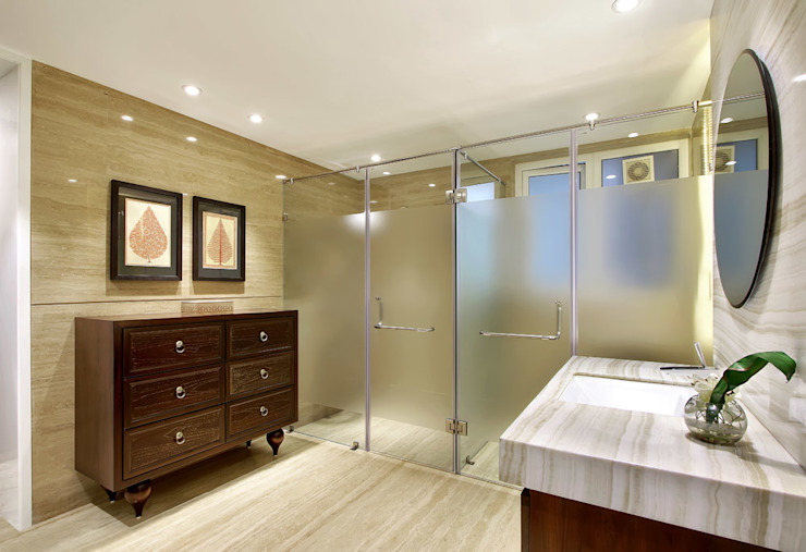 Nikhil patel residence Modern bathroom by Dipen Gada & Associates Modern