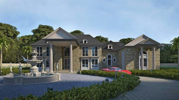 Villa ( Brookville City, New York ) Colonial style houses by Ellipse design studio Colonial