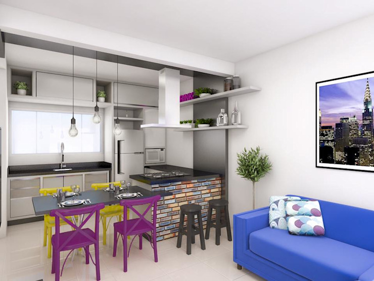 IT AQUITETURA E INTERIORES Living room