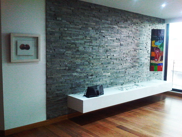 Proyecto Apartamento Altos de La Cabrera Salas modernas de ARQFACTORY FIRMA DE ARQUITECTURA Moderno