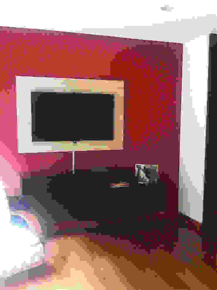 Proyecto Apartamento Altos de La Cabrera Salas multimedia de estilo moderno de ARQFACTORY FIRMA DE ARQUITECTURA Moderno