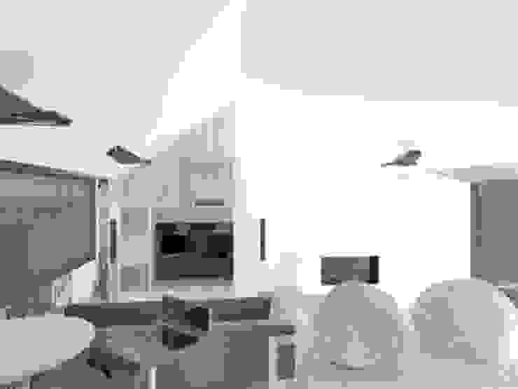 Proyecto Casa Chicó Salas modernas de ARQFACTORY FIRMA DE ARQUITECTURA Moderno