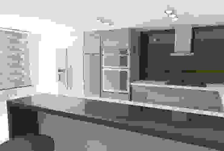 Proyecto Casa Chicó Cocinas modernas de ARQFACTORY FIRMA DE ARQUITECTURA Moderno