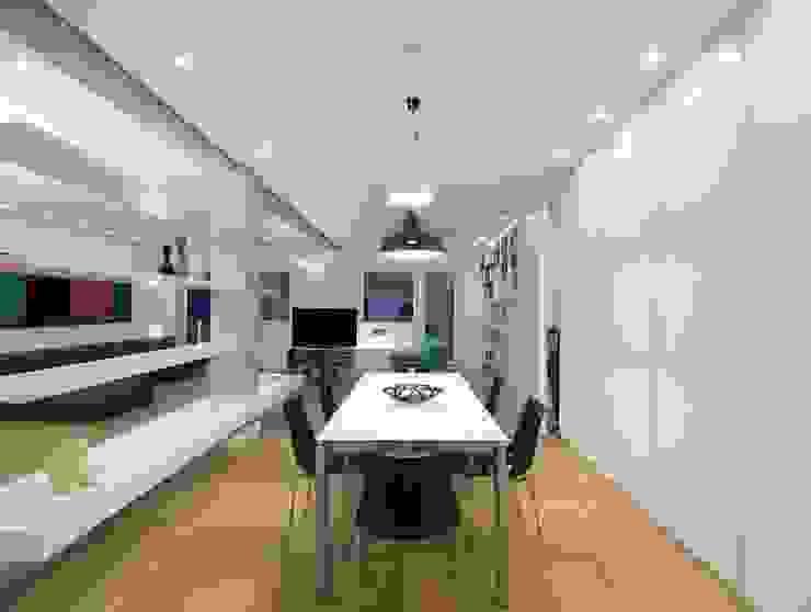 Trastevere House Arabella Rocca Architettura e Design Sala da pranzo minimalista