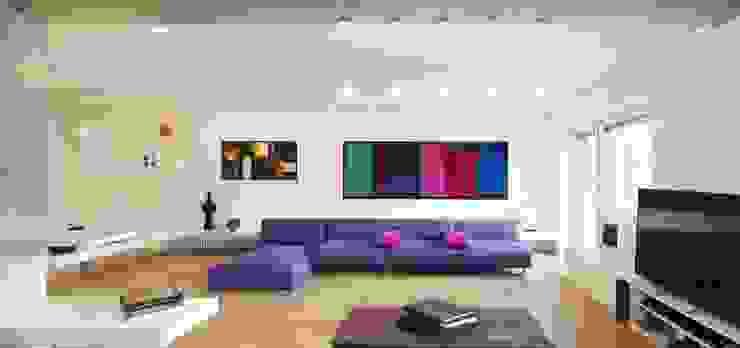 Ruang Keluarga Minimalis Oleh Arabella Rocca Architettura e Design Minimalis