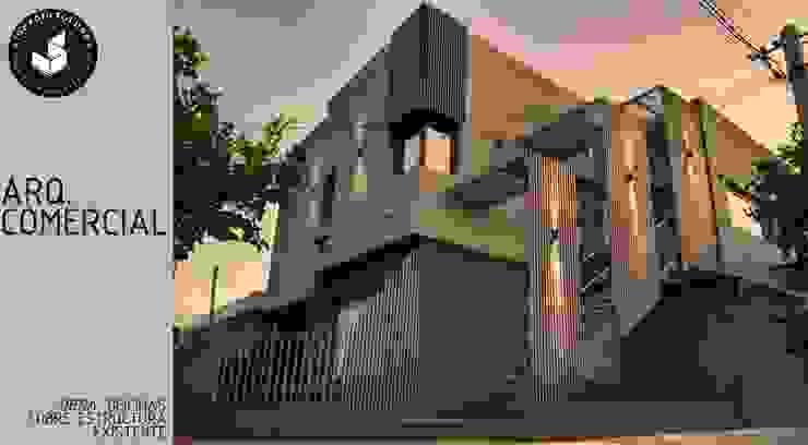 Oficinas sobre vivienda existente Estudios y oficinas modernos de Ignacio Tolosa Arquitectura Moderno Ladrillos