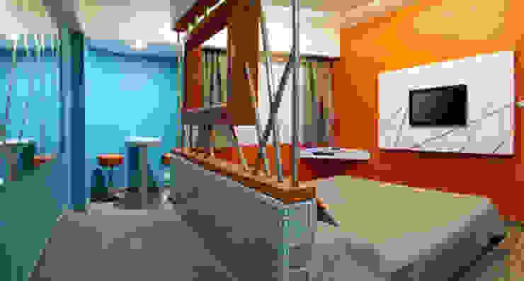 Hotel Tacubaya Dormitorios modernos de DIN Interiorismo Moderno