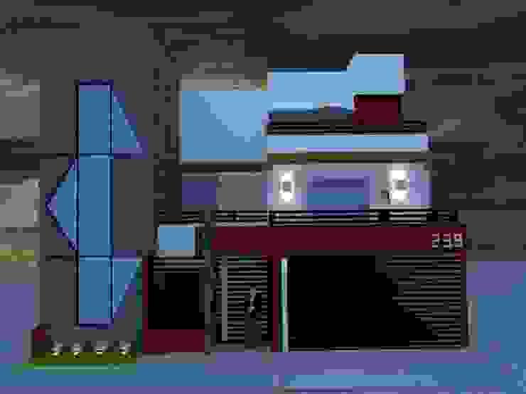 ROJAS Arquitectura Diferente Case moderne Bianco