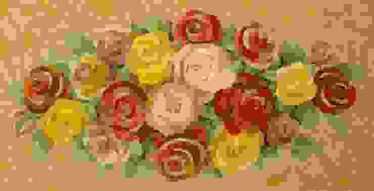 Stół mozaikowy, detal. od Mosaico Arte e Mestieri - Pracownia mozaiki artystycznej Śródziemnomorski Szkło