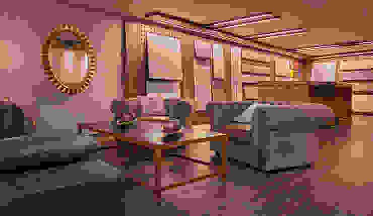 Zona tertulia Showroom de materiales técnicos Espacios comerciales de estilo ecléctico de Apersonal Ecléctico