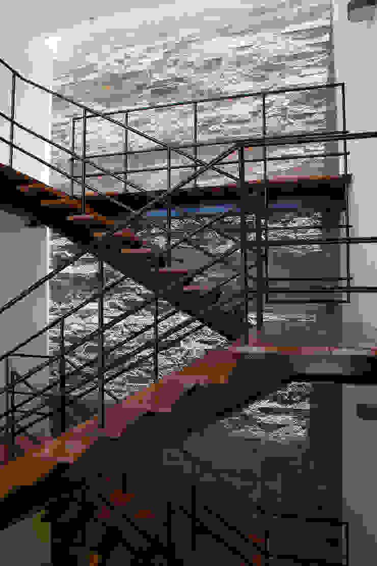 CASA RODEADA Pasillos, vestíbulos y escaleras modernos de NIKOLAS BRICEÑO arquitecto Moderno