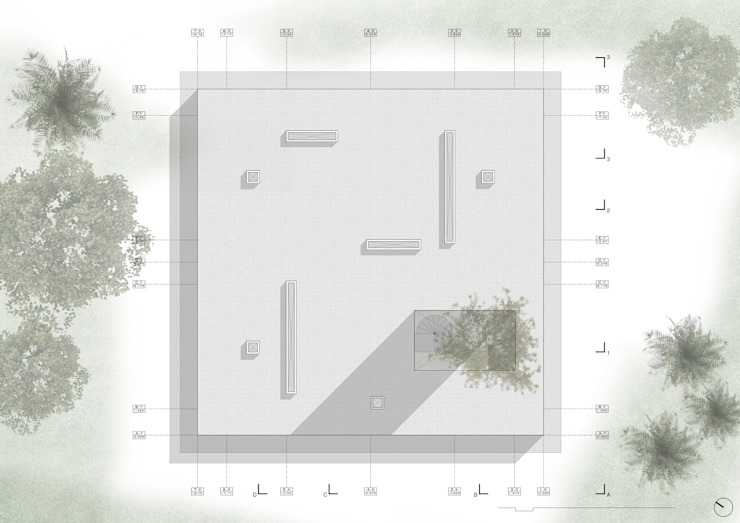 Planta Techo de NIKOLAS BRICEÑO arquitecto Moderno
