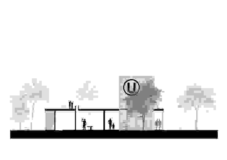 Corte Esquematico de NIKOLAS BRICEÑO arquitecto Moderno